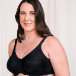 Trulife Mastectomy Bra Audrey Seamless Lace Accent Underwire Black style 4008