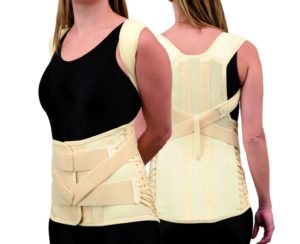 Trulife CAMP XXI Thoracolumbar Support for lumbar and lower thoracic spine sprains and strains and step down brace