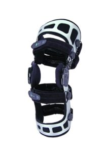 Trulife Lenox Hill Precision Pro OA Single or Double Upright knee brace that provides a corrective force to help reduce pain and joint degeneration