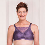 Trulife Mastectomy Bra Jessica Cami Style Lace Accent Softcup Amethyst style 4019
