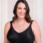 Trulife Mastectomy Bra Irene Classic Full Support Softcup Mastectomy Bra Black style 190